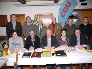 Der neu gewählte Vorstand der CDU Ortsunion Ergste