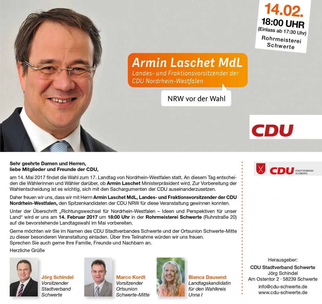 Facebook Einladung Armin Laschet